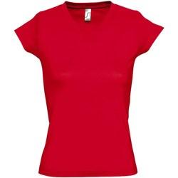 Vêtements Femme T-shirts manches courtes Sols Moon Rouge