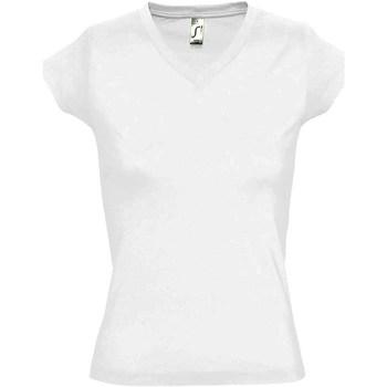 Vêtements Femme T-shirts manches courtes Sols Moon Blanc