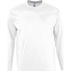Vêtements Homme T-shirts manches longues Sols Monarch Blanc