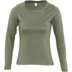Vêtements Femme T-shirts manches longues Sols Majestic Kaki