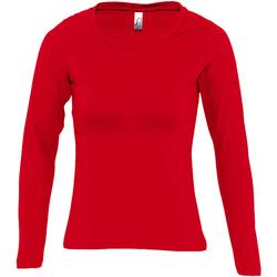 Vêtements Femme T-shirts manches longues Sols Majestic Rouge