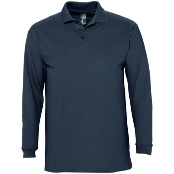 Vêtements Homme Polos manches longues Sols Pique Bleu marine
