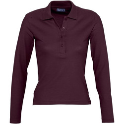 Vêtements Femme Polos manches longues Sols Podium Bordeaux