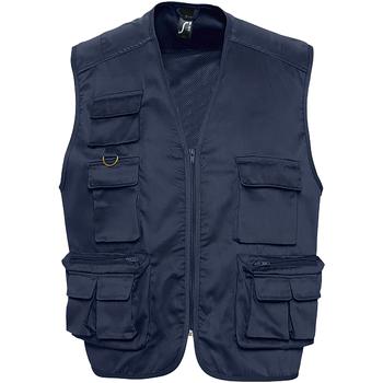 Vêtements Homme Gilets / Cardigans Sols 43630 Bleu marine