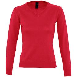 Vêtements Femme T-shirts manches longues Sols Galaxy Rouge