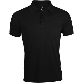 Vêtements Homme Polos manches courtes Sols Prime Noir