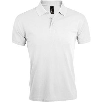 Vêtements Homme Polos manches courtes Sols Prime Blanc