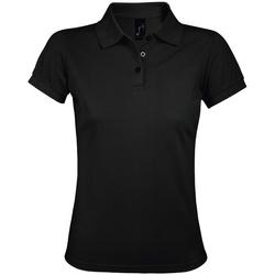 Vêtements Femme Polos manches courtes Sols Prime Noir