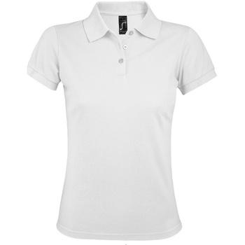 Vêtements Femme Polos manches courtes Sols Prime Blanc