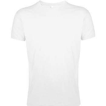Vêtements Homme T-shirts manches courtes Sols Slim Fit Blanc