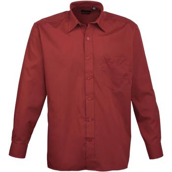 Vêtements Homme Chemises manches longues Premier PR200 Bordeaux