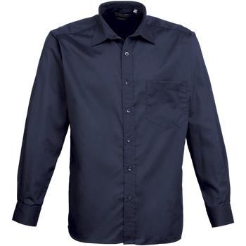 Vêtements Homme Chemises manches longues Premier PR200 Bleu marine