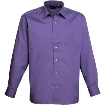 Vêtements Homme Chemises manches longues Premier PR200 Pourpre