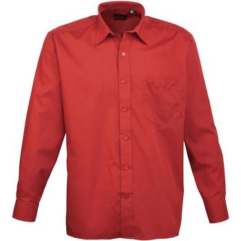Vêtements Homme Chemises manches longues Premier PR200 Rouge