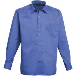 Vêtements Homme Chemises manches longues Premier PR200 Bleu roi