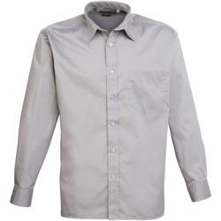 Vêtements Homme Chemises manches longues Premier PR200 Argent