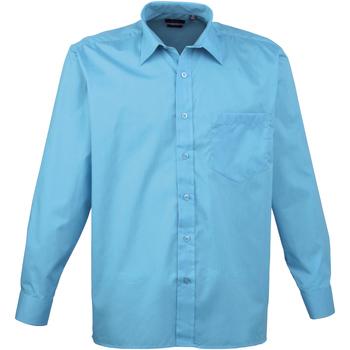 Vêtements Homme Chemises manches longues Premier PR200 Turquoise