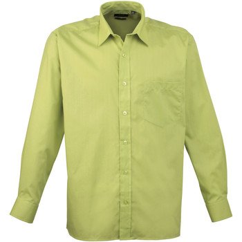 Vêtements Homme Chemises manches longues Premier Poplin Vert citron
