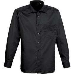Vêtements Homme Chemises manches longues Premier PR200 Noir