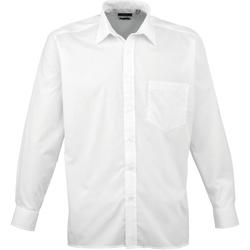 Vêtements Homme Chemises manches longues Premier PR200 Blanc