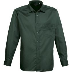 Vêtements Homme Chemises manches longues Premier Poplin Vert bouteille