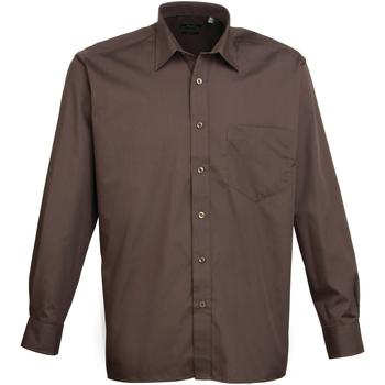 Vêtements Homme Chemises manches longues Premier PR200 Marron