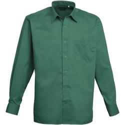 Vêtements Homme Chemises manches longues Premier PR200 Emeraude