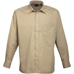 Vêtements Homme Chemises manches longues Premier PR200 Kaki