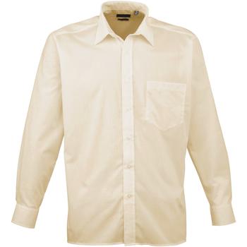 Vêtements Homme Chemises manches longues Premier Poplin Naturel