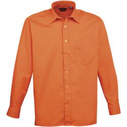 Vêtements Homme Chemises manches longues Premier PR200 Orange