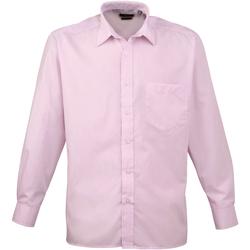 Vêtements Homme Chemises manches longues Premier PR200 Rose pâle
