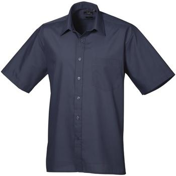 Vêtements Homme Chemises manches courtes Premier Poplin Bleu marine