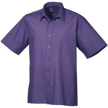 Vêtements Homme Chemises manches courtes Premier PR202 Pourpre