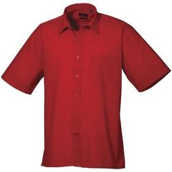 Vêtements Homme Chemises manches courtes Premier Poplin Rouge
