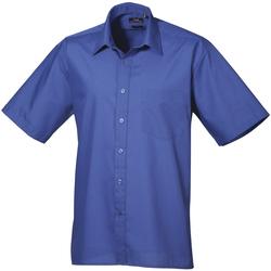Vêtements Homme Chemises manches courtes Premier Poplin Bleu roi