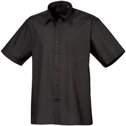 Vêtements Homme Chemises manches courtes Premier Poplin Noir