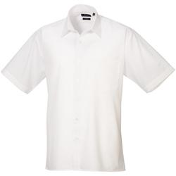 Vêtements Homme Chemises manches courtes Premier Poplin Blanc