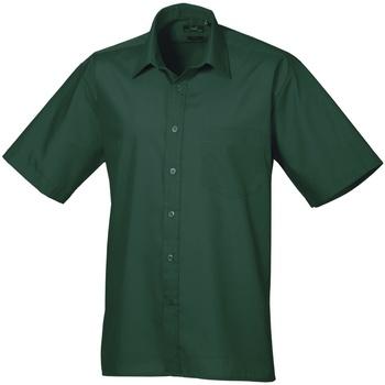 Vêtements Homme Chemises manches courtes Premier PR202 Vert bouteille