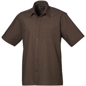 Vêtements Homme Chemises manches courtes Premier Poplin Marron