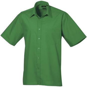 Vêtements Homme Chemises manches courtes Premier Poplin Emeraude
