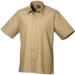 Vêtements Homme Chemises manches courtes Premier PR202 Kaki