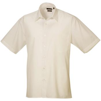 Vêtements Homme Chemises manches courtes Premier Poplin Naturel
