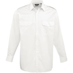 Vêtements Homme Chemises manches longues Premier PR210 Blanc
