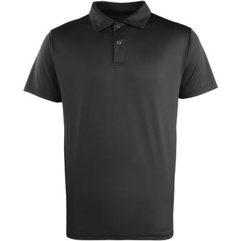 Vêtements Polos manches courtes Premier PR612 Noir
