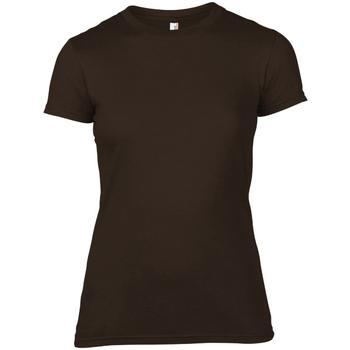 Vêtements Femme T-shirts manches courtes Anvil 379 Chocolat