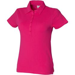 Vêtements Femme Polos manches courtes Skinni Fit Stretch Fuchsia