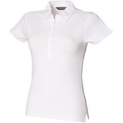 Vêtements Femme Polos manches courtes Skinni Fit Stretch Blanc