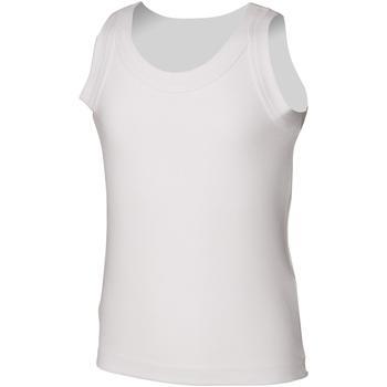 Vêtements Enfant Débardeurs / T-shirts sans manche Skinni Fit SM016 Blanc