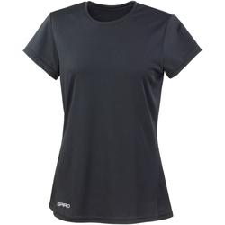 Vêtements Femme T-shirts manches courtes Spiro Performance Noir