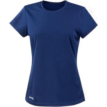 Vêtements Femme T-shirts manches courtes Spiro Performance Bleu marine